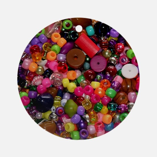 Colorful Beads - Crafty Ornament (Round)