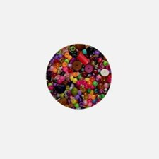 Colorful Beads - Crafty Mini Button