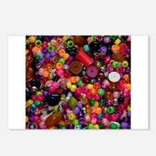 Colorful Beads - Crafty Postcards (Package of 8)