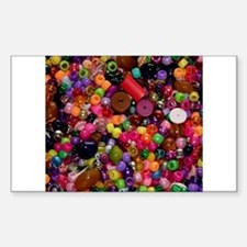 Colorful Beads - Crafty Rectangle Decal