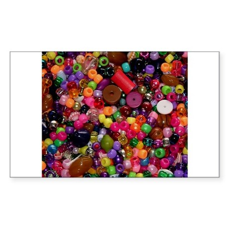 Colorful Beads - Crafty Rectangle Sticker