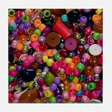 Colorful Beads - Crafty Tile Coaster