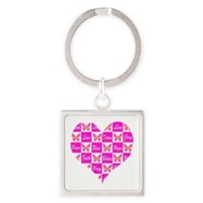 BUTTERFLY LOVE Square Keychain