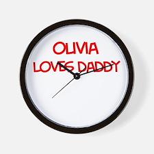 Olivia Loves Daddy Wall Clock