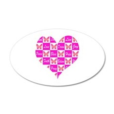 BUTTERFLY LOVE 35x21 Oval Wall Decal