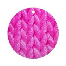 Pink Kniting - Crafty Ornament (Round)