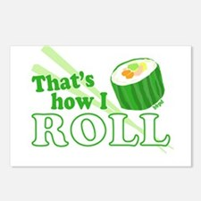 How I Sushi Roll Postcards (Package of 8)