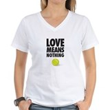 Love means nothing 2c womem Womens V-Neck T-shirts