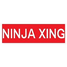 ninja crossing Bumper Bumper Sticker