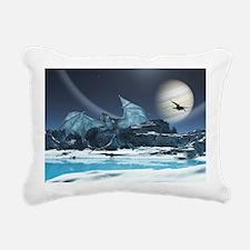 Ice Dragon Rectangular Canvas Pillow