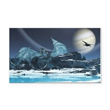 Ice Dragon Rectangle Car Magnet