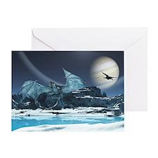 Ice Dragon Greeting Cards