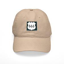US Highway 666 Baseball Baseball Cap