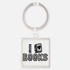 I Love Books Keychains
