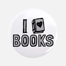"I Love Books 3.5"" Button"