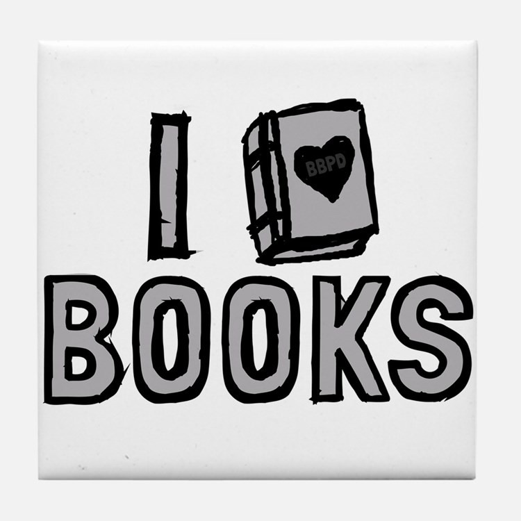 I Love Books Tile Coaster