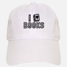 I Love Books Baseball Baseball Baseball Cap