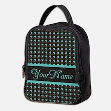 Hearts Pattern Personalized Neoprene Lunch Bag