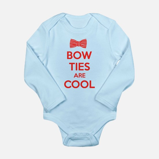 Bow Ties Are Cool Long Sleeve Infant Bodysuit
