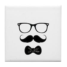 Mister Moustache Tile Coaster
