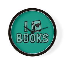 I Heart My Books Wall Clock