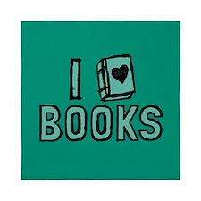 I Heart My Books Queen Duvet