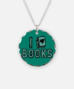 I Heart My Books Necklace