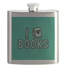 I Heart My Books Flask