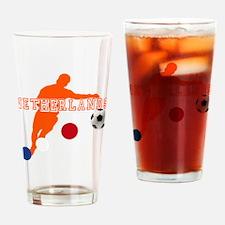 Netherlands Football Drinking Glass