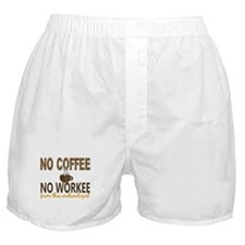 Archaeologist No Coffee No Workee Boxer Shorts