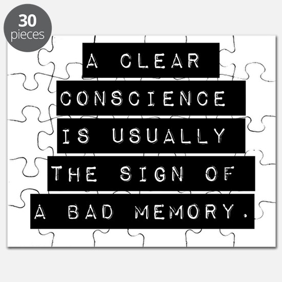A Clear Conscience Puzzle