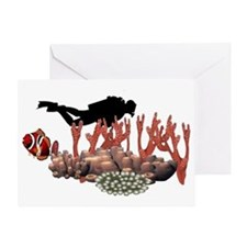 Scuba Diver Greeting Card