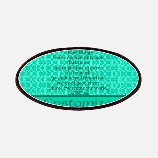 John16:33 The Word Aquamarine Patches
