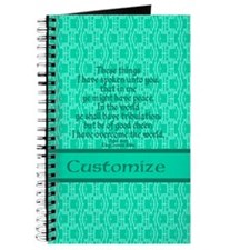 John16:33 The Word Aquamarine Journal