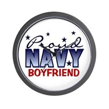 Proud Navy Boyfriend Wall Clock