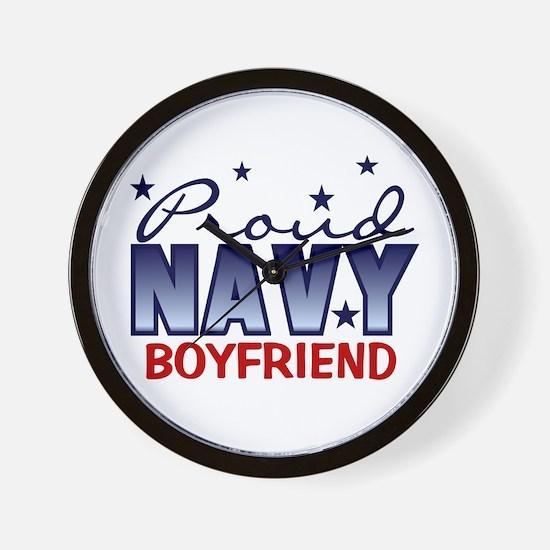 Proud Navy Boyfriend Wall Clock