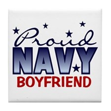 Proud Navy Boyfriend Tile Coaster