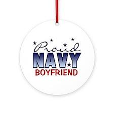 Proud Navy Boyfriend Ornament (Round)