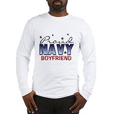 Proud Navy Boyfriend Long Sleeve T-Shirt