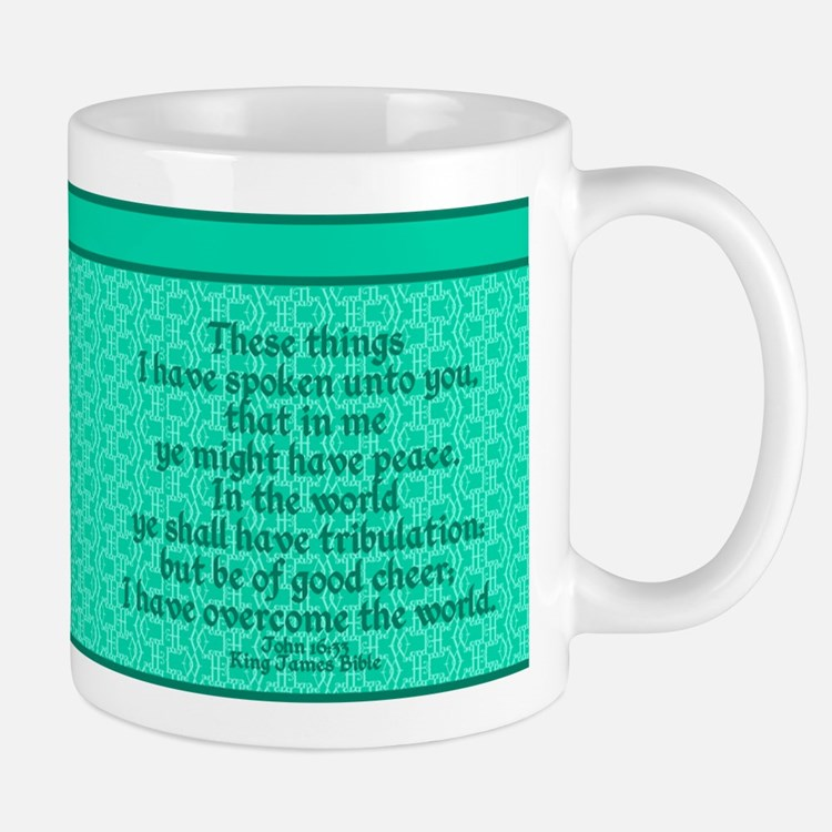 John16:33 The Word Aquamarine Mug