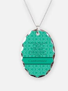 John16:33 The Word Aquamarine Necklace