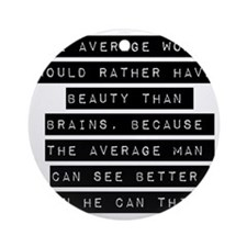 The Average Woman Ornament (Round)
