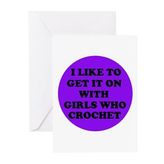 I Like To Get It On With Girl Greeting Cards (Pack