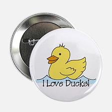 "I Love Ducks 2.25"" Button"
