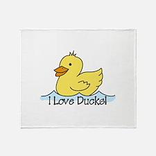 I Love Ducks Throw Blanket