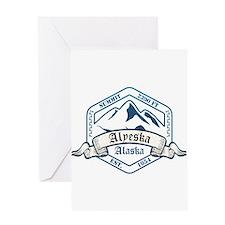 Alyeska Ski Resort Alaska Greeting Cards