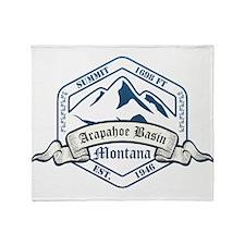 Arapahoe Basin Ski Resort Colorado Throw Blanket