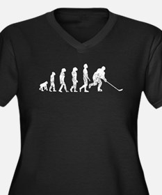 Distressed Hockey Evolution Plus Size T-Shirt