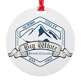 Big white mountain Ornaments
