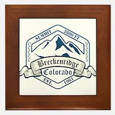Breckenridge Ski Resort Colorado Framed Tile